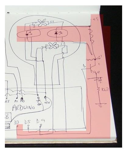 Arduino LED power circuit