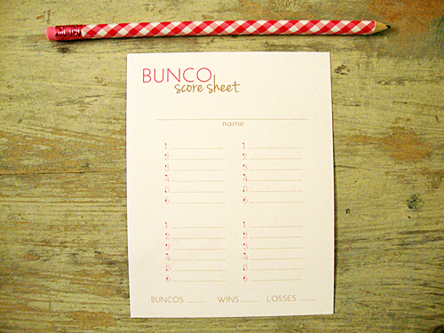 picture about Cute Bunco Score Sheets Printable known as Libbie Grove Structure: Free of charge Printable: Bunco