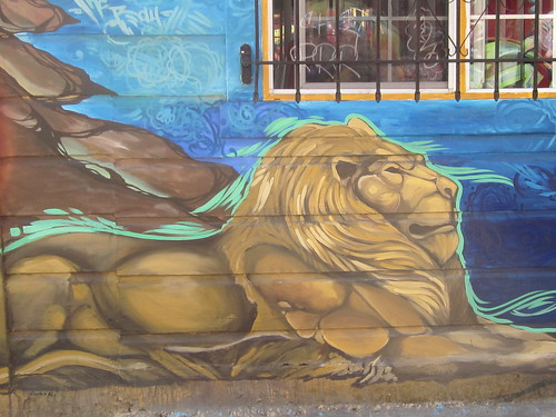Lion Building Mural