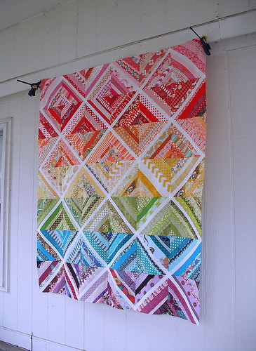 Scrappy String Quilt Top by jenniferworthen