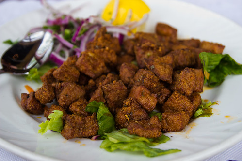 Sauteed Liver Cubes at Anatolia Cafe
