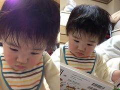 風呂上り読書とらちゃん(2012/3/18)