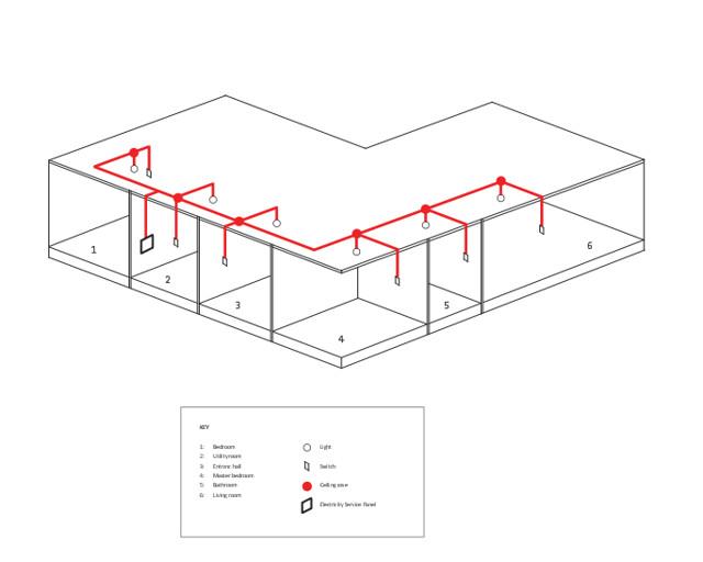 lighting circuit diagram for building construction - interior