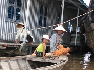 Fish farm on Mekong River