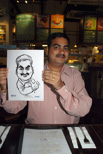 caricature live sketching for emc NUS - 3