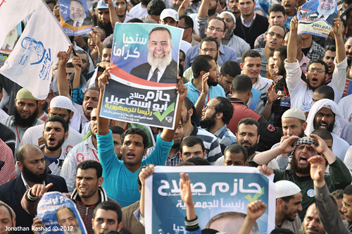 Salafi people for Hazem Abu Ismail presidency campaign
