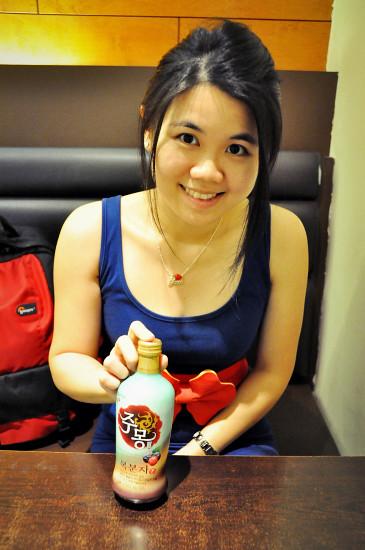 Madtongsan II Korean Restaurant Brisbane: Jumong Bokbunja Wine