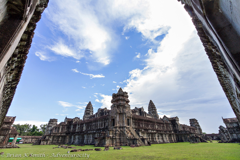 Wide angle of Angkor Wat's inner sanctuary by Adventurocity