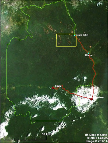map from areal photo of okapi reserve