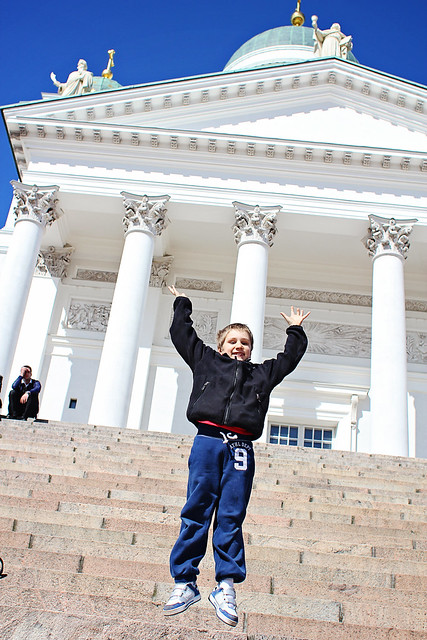 sam in front of helsinki cath