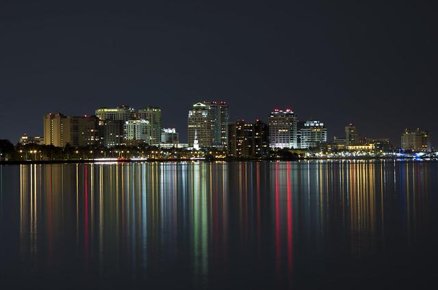 West Palm Beach night skyline