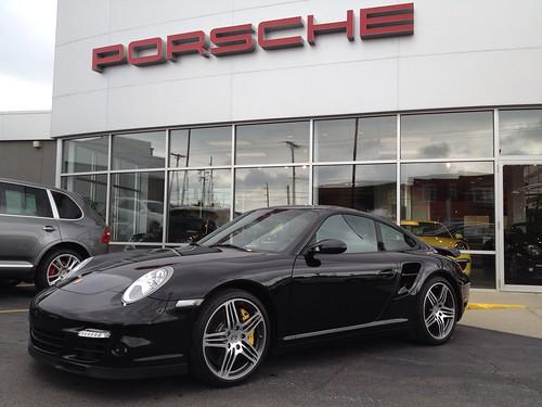 2007 porsche 911 turbo cpe black black pccb 39 s sport shifter silver stitching 147k. Black Bedroom Furniture Sets. Home Design Ideas