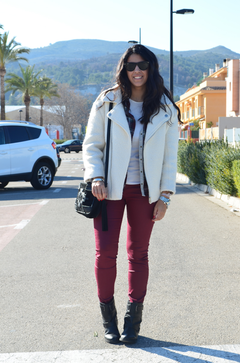 florenciablog total look burgundy inspiration burgundy look granate fieltro jacket cream jacket gandia españa bloggers (9)