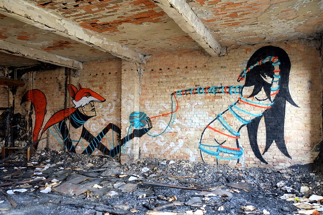 streetart | nineta | urbex | bärenquell brauerei