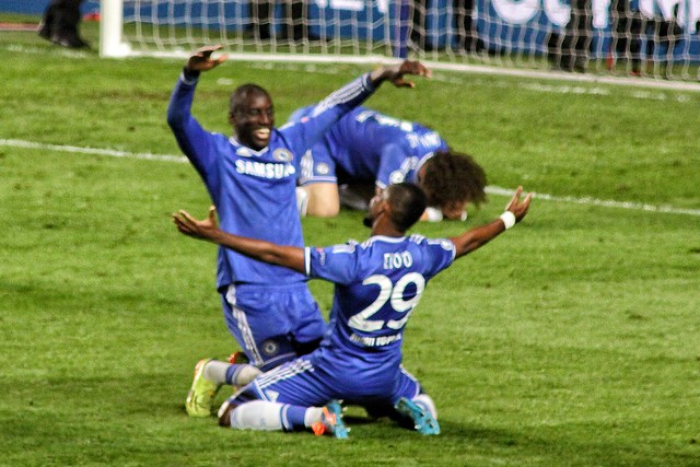 "Demba Ba and Samuel Eto'o""o Celebrating"