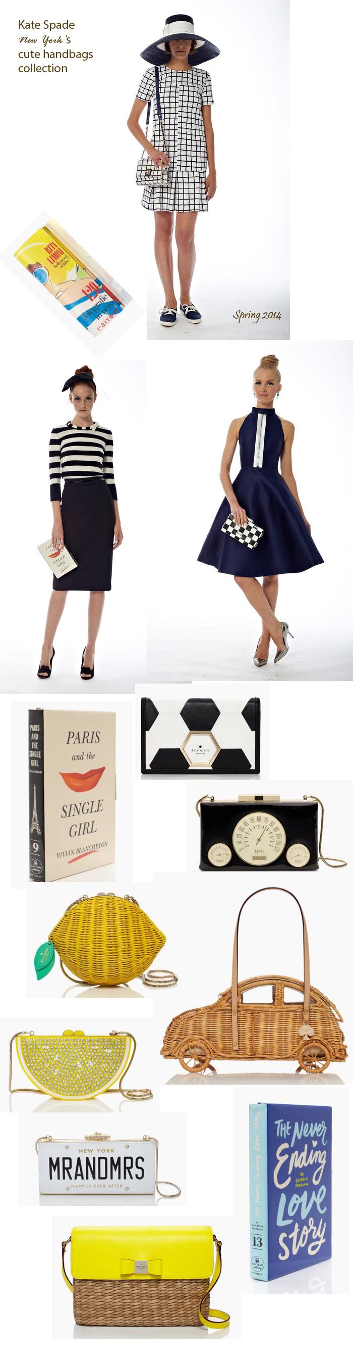 fashion kate spade New York cute handbags collection purse clutch