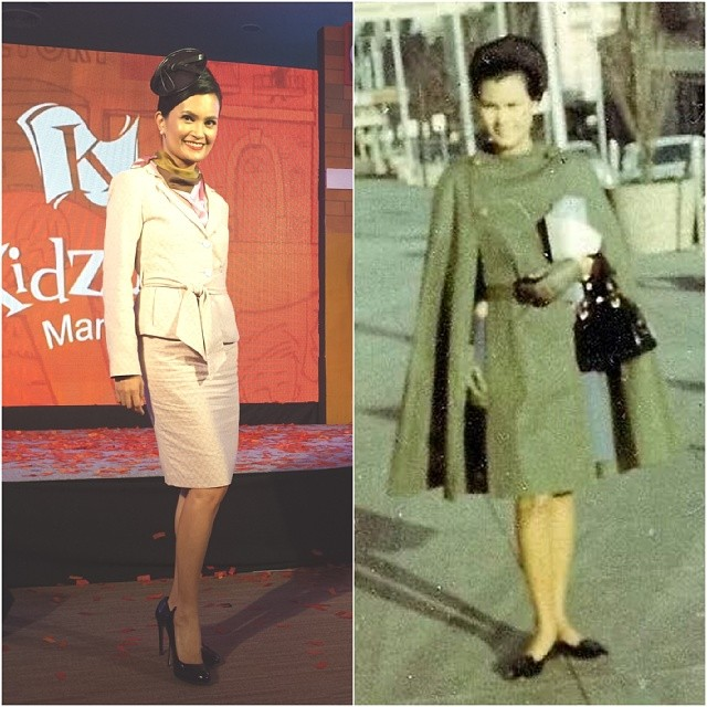 My peg. Mom as a PAL #flightattendant in the early 1960's. Back then their uniforms were Italian tailoring. #vintageflightattendant #vintage #cabincrewstyle