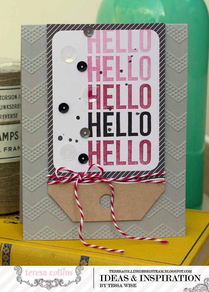 TERESA COLLINS DESIGN TEAM Hello Hello Card