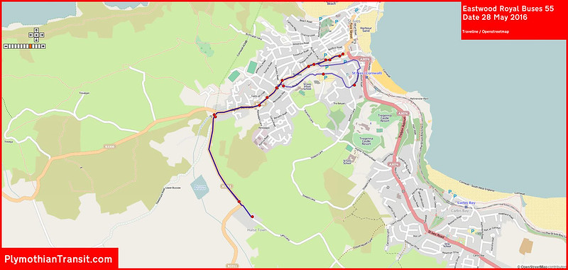 2016 05 28 Eastwood Royal Buses Route-055 Traveline Map.jpg