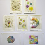 Molly James - hand coloured copperplate etchings