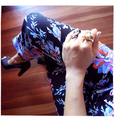 Outfit: Floral pants