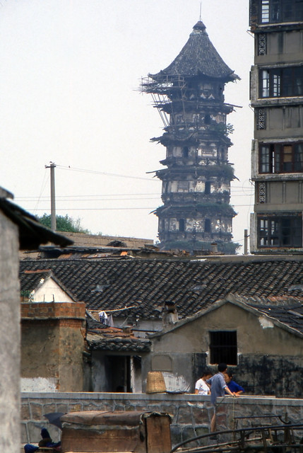 Pagoda in need of repair in Suzhou