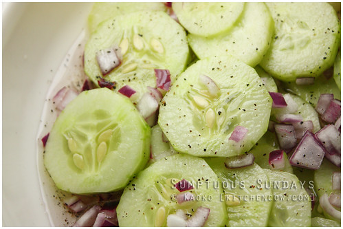 Sumptuous Sundays: Cucumber Salad by kaoko
