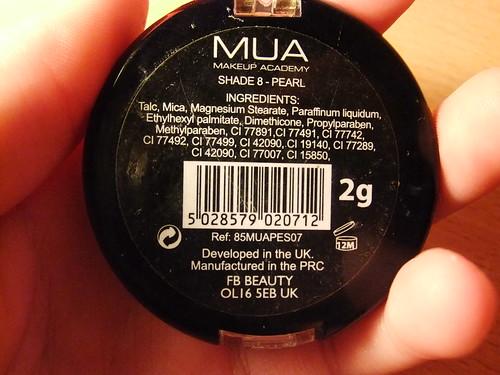 Review | MUA Eyeshadow in Shade 8