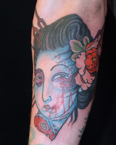 Geisha head by Levi Polzin  by UndertheNeedle