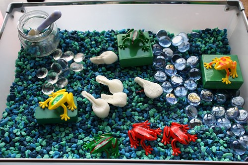 Frog Sensory Bin (Photo by Julie from The Adventures of Bear)