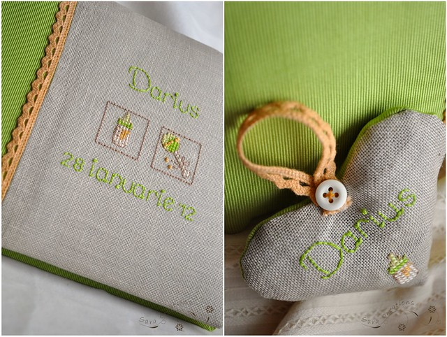 personalized guestbook and little heart ( carte de oaspeti si inimioara personalizata )