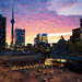 Downtown Toronto Sunset by thingsmelissamakes