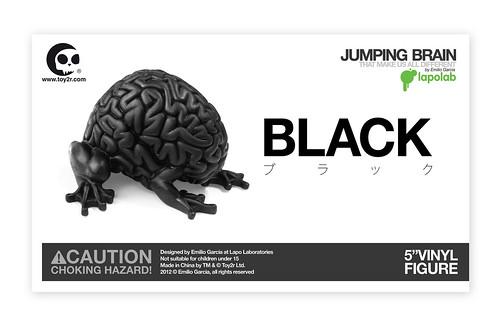 BLACK VINYL JUMPING BRAIN