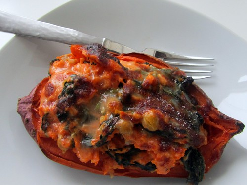 Twice-baked Stuffed Sweet Potato