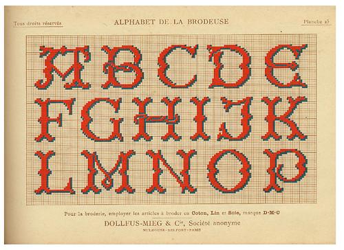 010-Alphabet de la Brodeuse1932- Thérèse de Dillmont