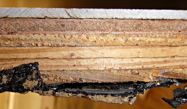Flooring Layers Cross Section With Asbestos Felt Amp Mastic