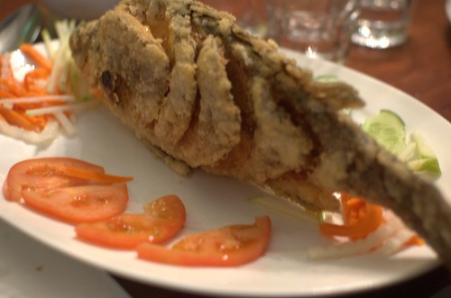 Deep-fried whole fish