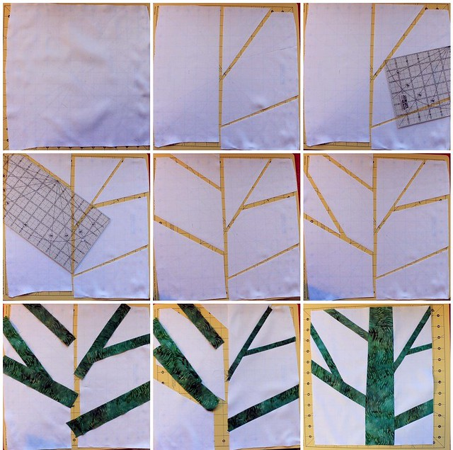 Tree Quilt Block Progress