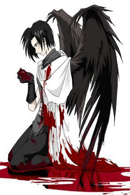 emo angel bloody wallpaper 4 apples iphone 4 and iphone