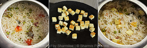 How to make paneer pulao - Step3