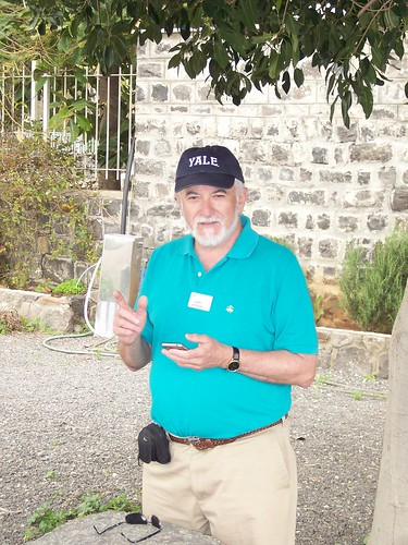 """Harry Attridge instructing his """"disciples"""" in Capernaum"""