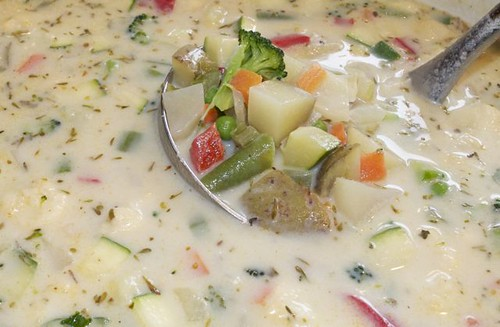 vegetable chowder with herbs 19