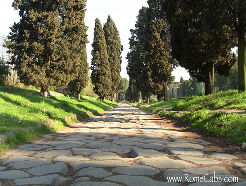 Via Appia Antica (Ancient Appian Way) on Seven Wonders of Ancient Rome with RomeCabs