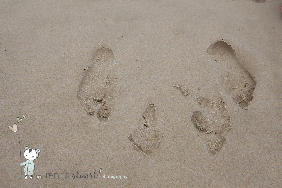 benjamin and daddy's footprints