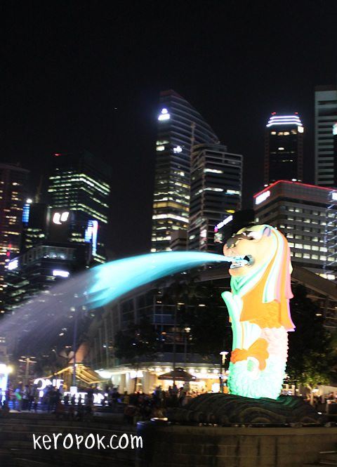iLight Marina Bay 2012 - Light of the Merlion