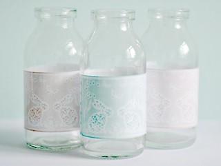 Easter milk bottles