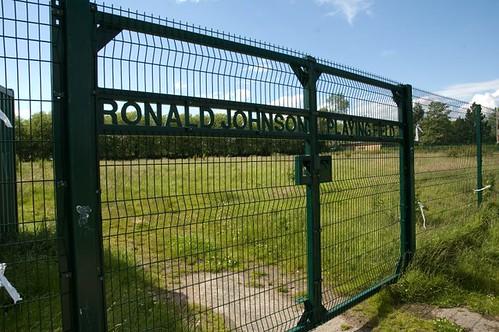 Ronald Johnson Playing Fields gates (2011)