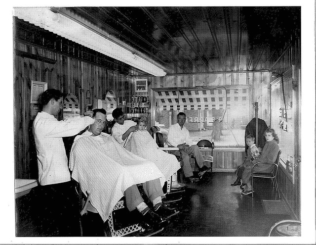 Brownies Barber Shop 3200 N. Dixie - circa1945 Barber at ...