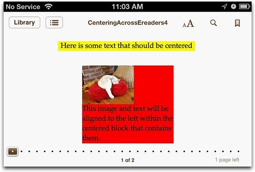 iPhone Centering