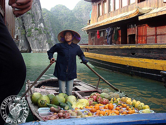 Flipnomad's Photo Thursday - Floating Fruit Stall